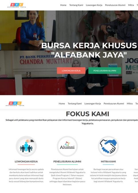 Website Bursa Kerja Alfabank Jaya Yogyakarta