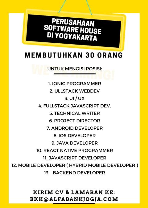 Lowongan Erporate Alumni Alfabank Yogyakarta