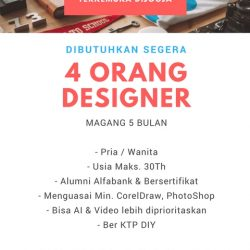 Lowongan Kerja Desainer Perusahaan Advertising Terkemuka Alumni Alfabank Yogyakarta