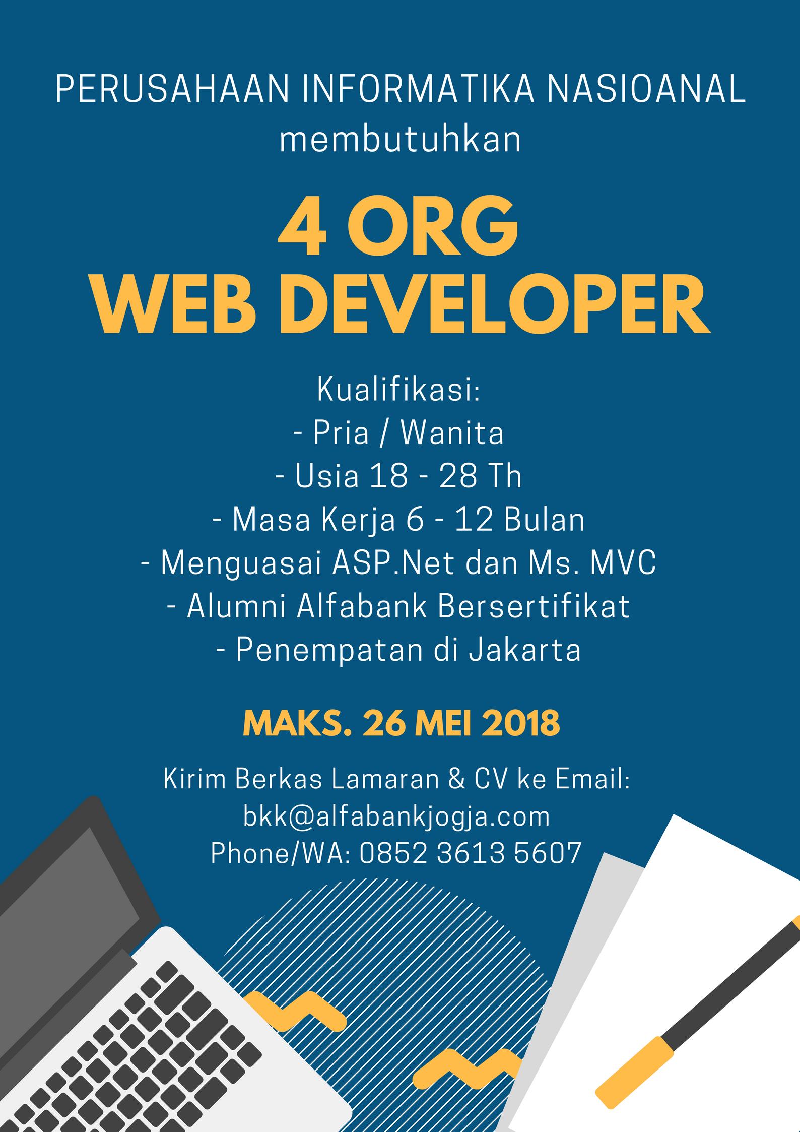 Lowongan Kerja Web Developer Perusahaan Informatika Nasional