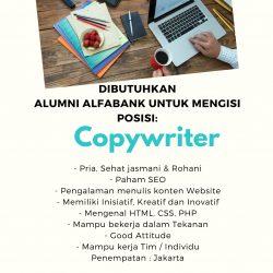 Lowongan Kerja Copywriter Penempatan Jakarta