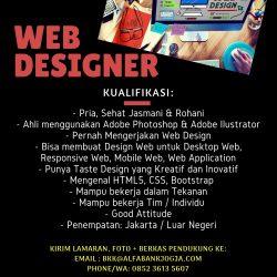 Lowongan Kerja Web Designer Penempatan Jakarta atau Luar Negeri